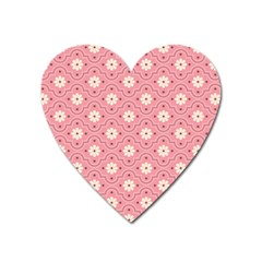 Pink Flower Floral Heart Magnet by Alisyart