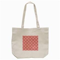 Pink Flower Floral Tote Bag (cream) by Alisyart