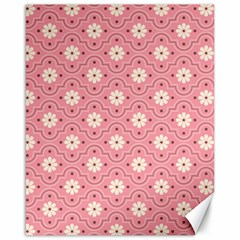 Pink Flower Floral Canvas 16  X 20   by Alisyart