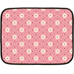 Pink Flower Floral Fleece Blanket (mini) by Alisyart