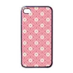 Pink Flower Floral Apple Iphone 4 Case (black) by Alisyart