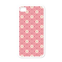 Pink Flower Floral Apple Iphone 4 Case (white) by Alisyart