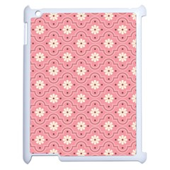 Pink Flower Floral Apple Ipad 2 Case (white) by Alisyart