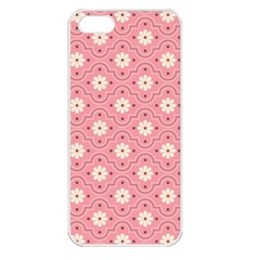 Pink Flower Floral Apple Iphone 5 Seamless Case (white) by Alisyart
