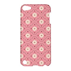Pink Flower Floral Apple Ipod Touch 5 Hardshell Case by Alisyart