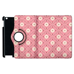 Pink Flower Floral Apple Ipad 2 Flip 360 Case by Alisyart