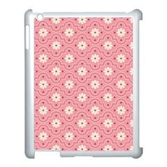 Pink Flower Floral Apple Ipad 3/4 Case (white) by Alisyart