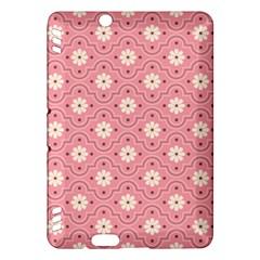 Pink Flower Floral Kindle Fire Hdx Hardshell Case by Alisyart