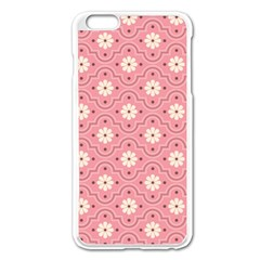 Pink Flower Floral Apple Iphone 6 Plus/6s Plus Enamel White Case by Alisyart