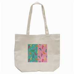 Socks Kids Blue Pink Yellow Purple Green Rainbow Tote Bag (cream) by Alisyart