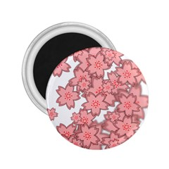 Flower Floral Pink 2 25  Magnets by Alisyart
