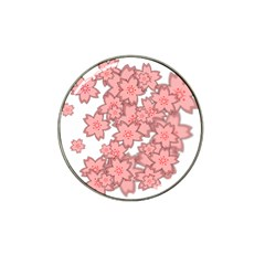 Flower Floral Pink Hat Clip Ball Marker (4 Pack) by Alisyart