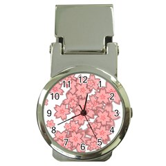 Flower Floral Pink Money Clip Watches by Alisyart