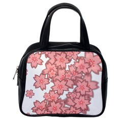 Flower Floral Pink Classic Handbags (one Side) by Alisyart