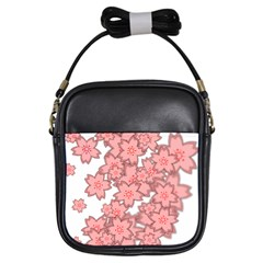 Flower Floral Pink Girls Sling Bags by Alisyart