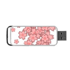 Flower Floral Pink Portable Usb Flash (two Sides) by Alisyart