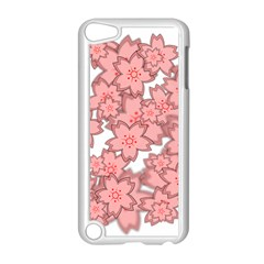 Flower Floral Pink Apple Ipod Touch 5 Case (white) by Alisyart