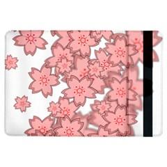 Flower Floral Pink Ipad Air Flip by Alisyart