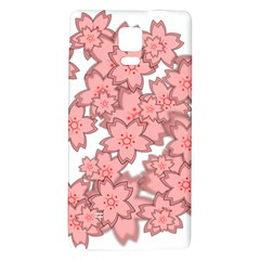 Flower Floral Pink Galaxy Note 4 Back Case by Alisyart