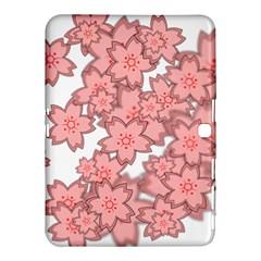 Flower Floral Pink Samsung Galaxy Tab 4 (10 1 ) Hardshell Case  by Alisyart