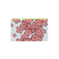 Flower Floral Pink Cosmetic Bag (xs) by Alisyart