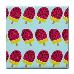 Watermelonn Red Yellow Blue Fruit Ice Tile Coasters by Alisyart