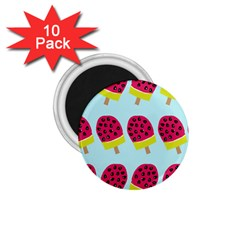 Watermelonn Red Yellow Blue Fruit Ice 1 75  Magnets (10 Pack)  by Alisyart