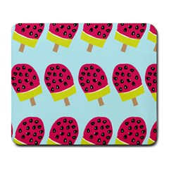 Watermelonn Red Yellow Blue Fruit Ice Large Mousepads by Alisyart