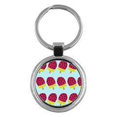 Watermelonn Red Yellow Blue Fruit Ice Key Chains (round)  by Alisyart