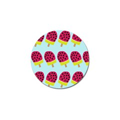 Watermelonn Red Yellow Blue Fruit Ice Golf Ball Marker by Alisyart