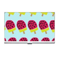 Watermelonn Red Yellow Blue Fruit Ice Business Card Holders by Alisyart