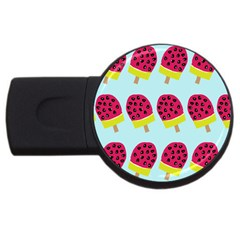 Watermelonn Red Yellow Blue Fruit Ice Usb Flash Drive Round (2 Gb) by Alisyart