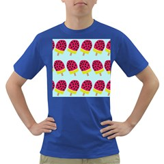 Watermelonn Red Yellow Blue Fruit Ice Dark T Shirt by Alisyart