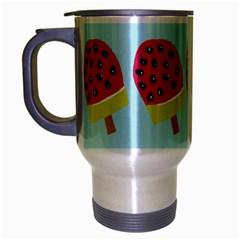 Watermelonn Red Yellow Blue Fruit Ice Travel Mug (silver Gray) by Alisyart