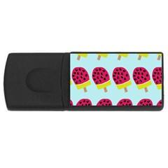 Watermelonn Red Yellow Blue Fruit Ice Usb Flash Drive Rectangular (4 Gb) by Alisyart