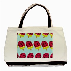 Watermelonn Red Yellow Blue Fruit Ice Basic Tote Bag by Alisyart