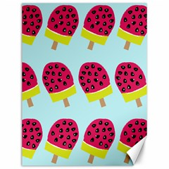 Watermelonn Red Yellow Blue Fruit Ice Canvas 12  X 16   by Alisyart