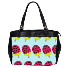 Watermelonn Red Yellow Blue Fruit Ice Office Handbags (2 Sides)  by Alisyart