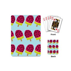 Watermelonn Red Yellow Blue Fruit Ice Playing Cards (mini)  by Alisyart