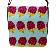 Watermelonn Red Yellow Blue Fruit Ice Flap Messenger Bag (l)  by Alisyart