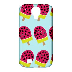 Watermelonn Red Yellow Blue Fruit Ice Samsung Galaxy S4 Classic Hardshell Case (pc+silicone) by Alisyart