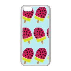 Watermelonn Red Yellow Blue Fruit Ice Apple Iphone 5c Seamless Case (white) by Alisyart