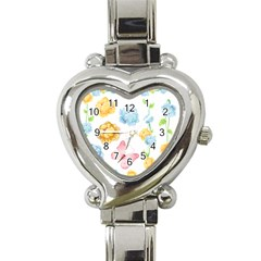 Rose Flower Floral Blue Yellow Gold Butterfly Animals Pink Heart Italian Charm Watch by Alisyart
