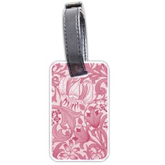 Vintage Style Floral Flower Pink Luggage Tags (one Side)  by Alisyart
