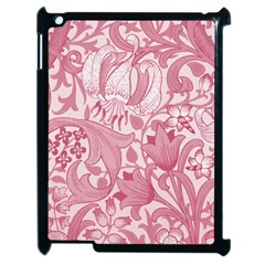 Vintage Style Floral Flower Pink Apple Ipad 2 Case (black) by Alisyart