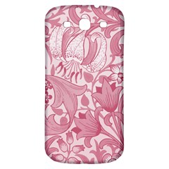 Vintage Style Floral Flower Pink Samsung Galaxy S3 S Iii Classic Hardshell Back Case by Alisyart