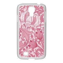 Vintage Style Floral Flower Pink Samsung Galaxy S4 I9500/ I9505 Case (white) by Alisyart