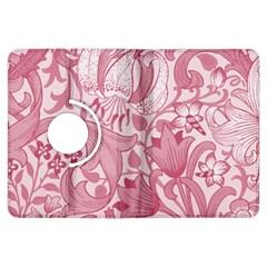 Vintage Style Floral Flower Pink Kindle Fire Hdx Flip 360 Case by Alisyart