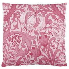 Vintage Style Floral Flower Pink Large Flano Cushion Case (one Side) by Alisyart