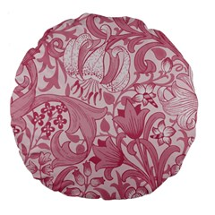 Vintage Style Floral Flower Pink Large 18  Premium Flano Round Cushions by Alisyart